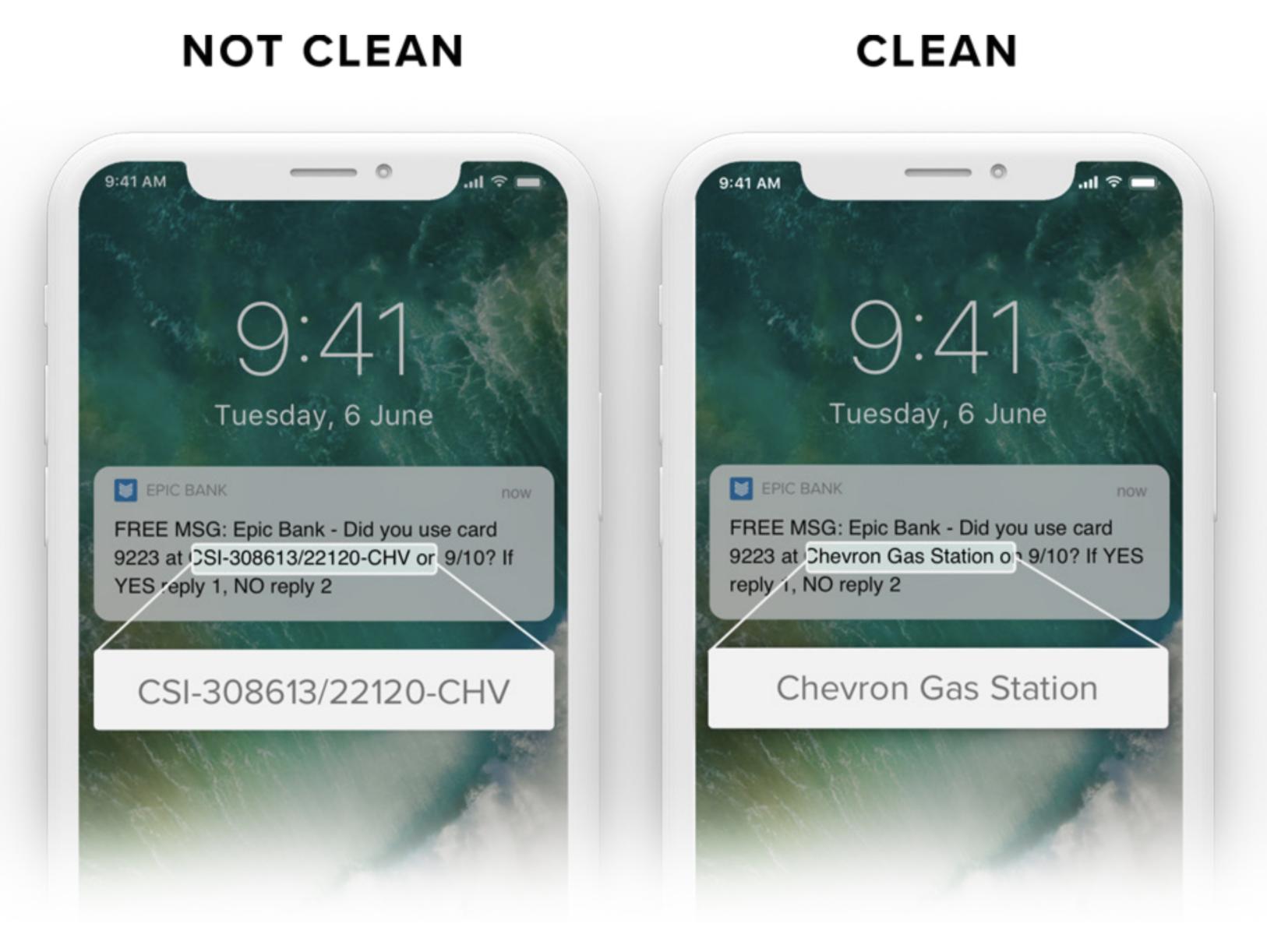 clean bank data